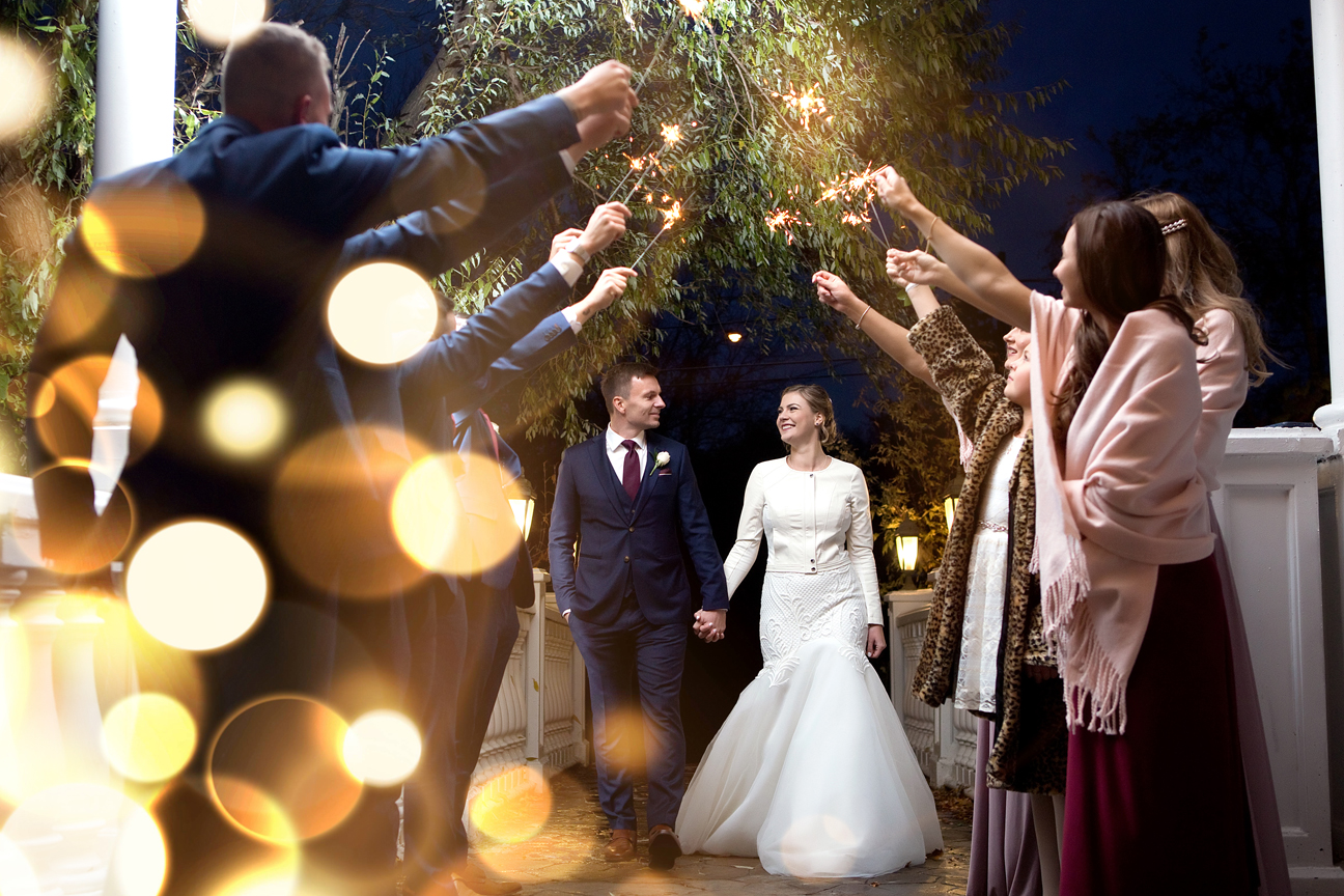 Sparkler exit at Paradise Banquet Hall