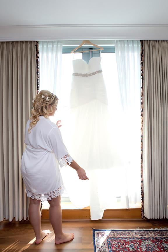 Bride prep dress