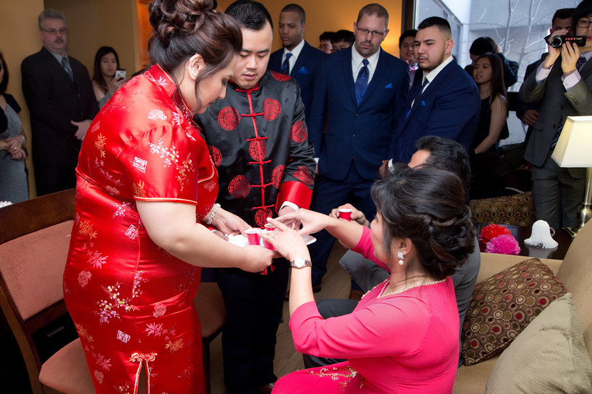 Chinese tea ceremony at hotel