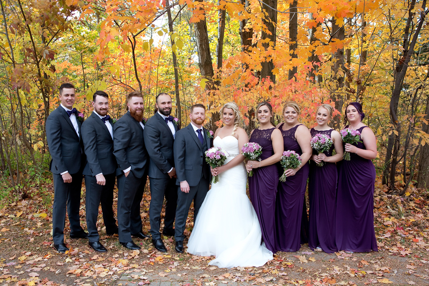 Bridal party at Adamson Estate