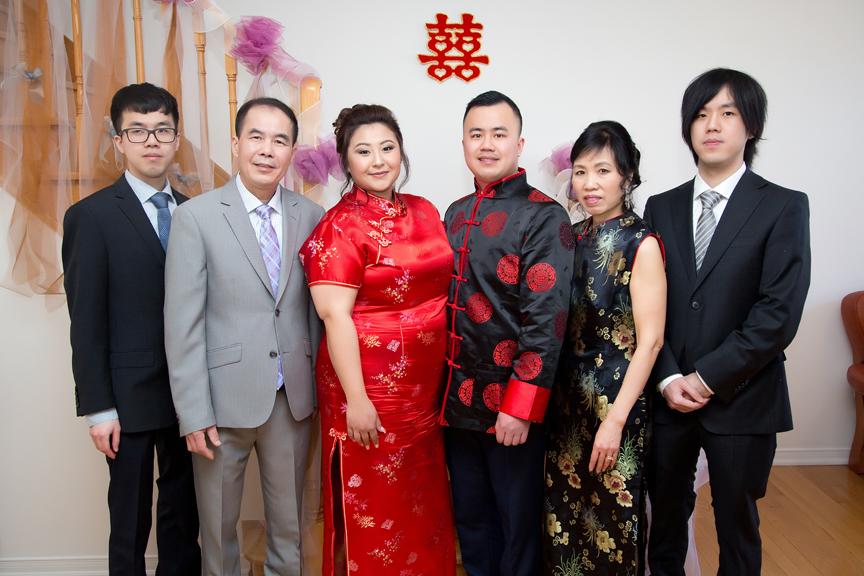 Chinese tea ceremony family photo