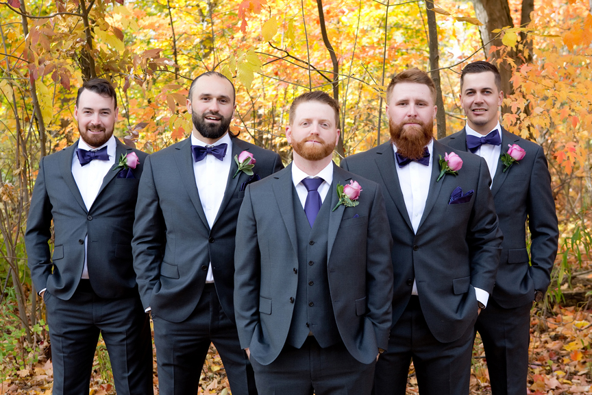 Formal groomsmen at Adamson Estate