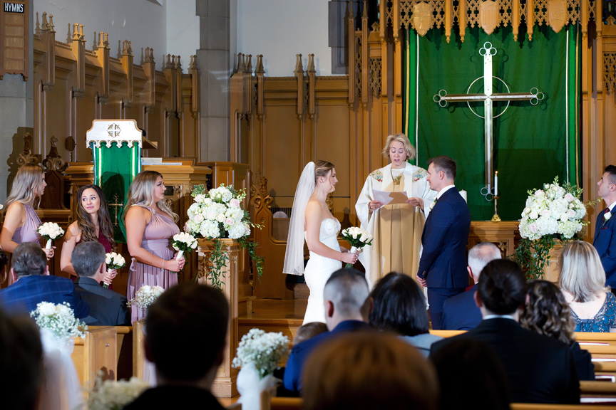 Wedding ceremony at Islington United Church
