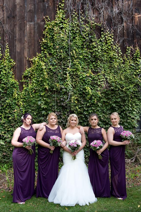 Bridesmaids at Adamson Estate