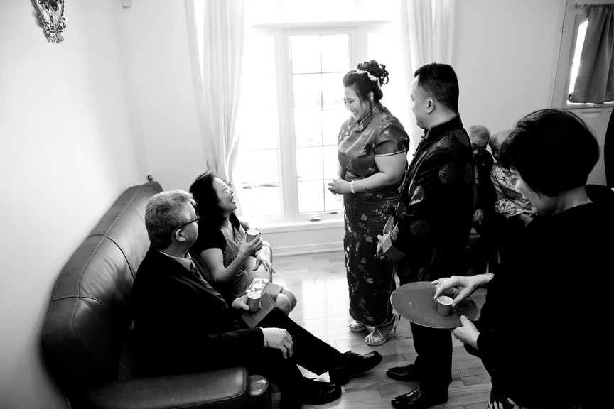 Chinese tea ceremony black and white