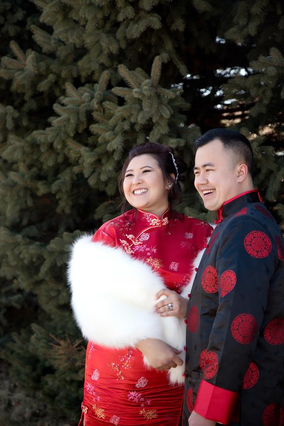 Chinese tea ceremony couple portrait