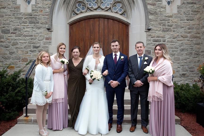 Bride's family at Islington United Church