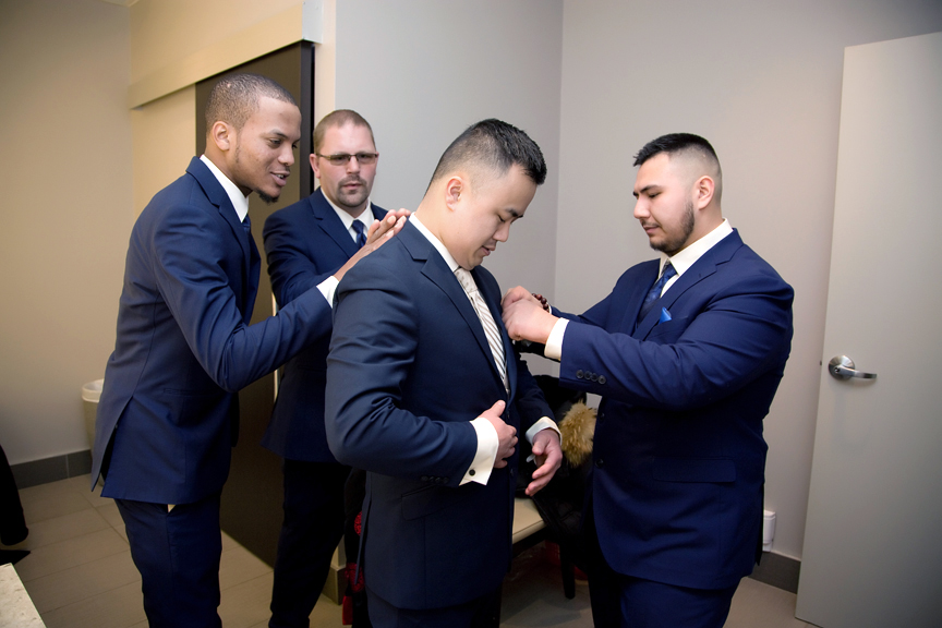 groom prep at Mississauga Convention Centre