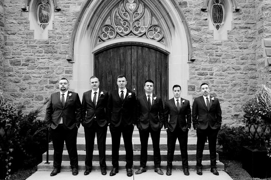 Groomsmen at Islington United Church
