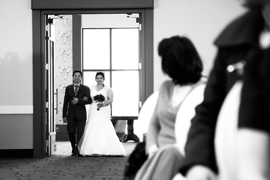 bride down the aisle wedding ceremony at Mississauga Convention Centre