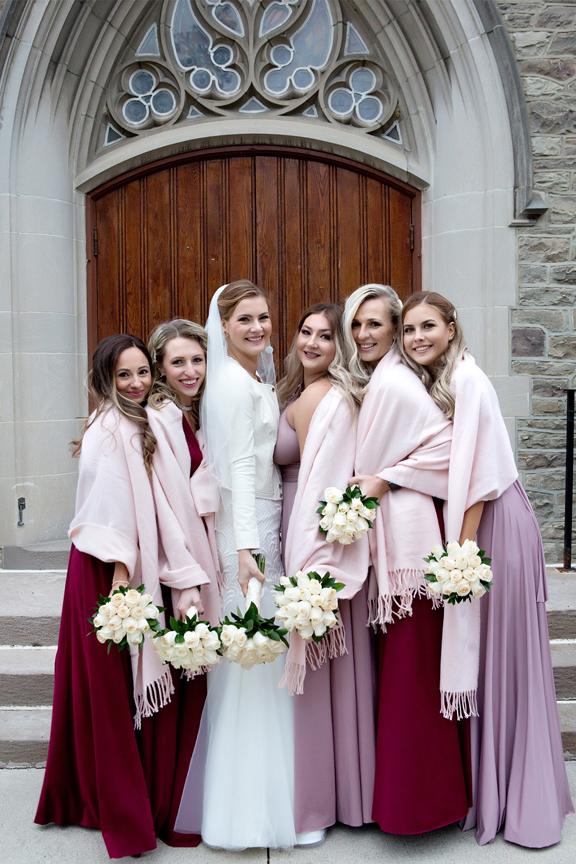 Bridesmaids at Islington United Church