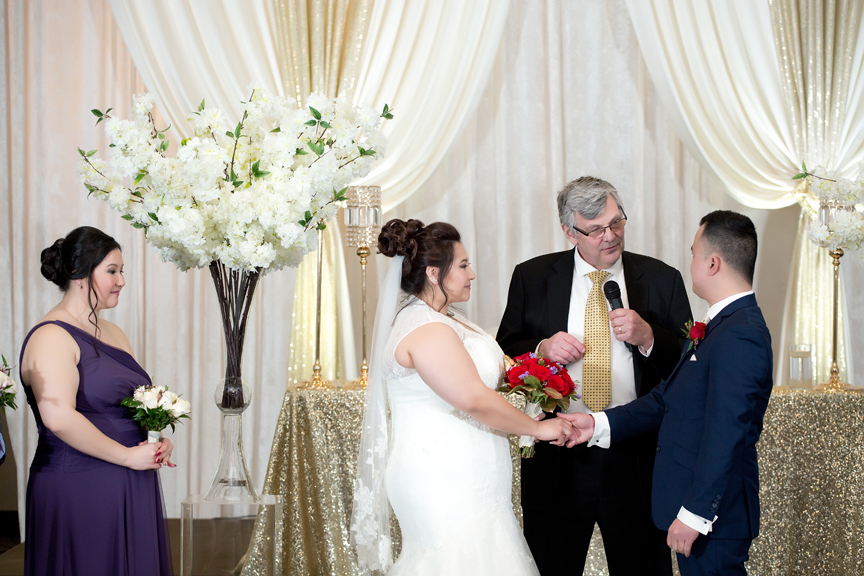 wedding ceremony at Mississauga Convention Centre