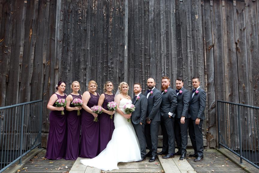 Bridal party at Adamson Estate