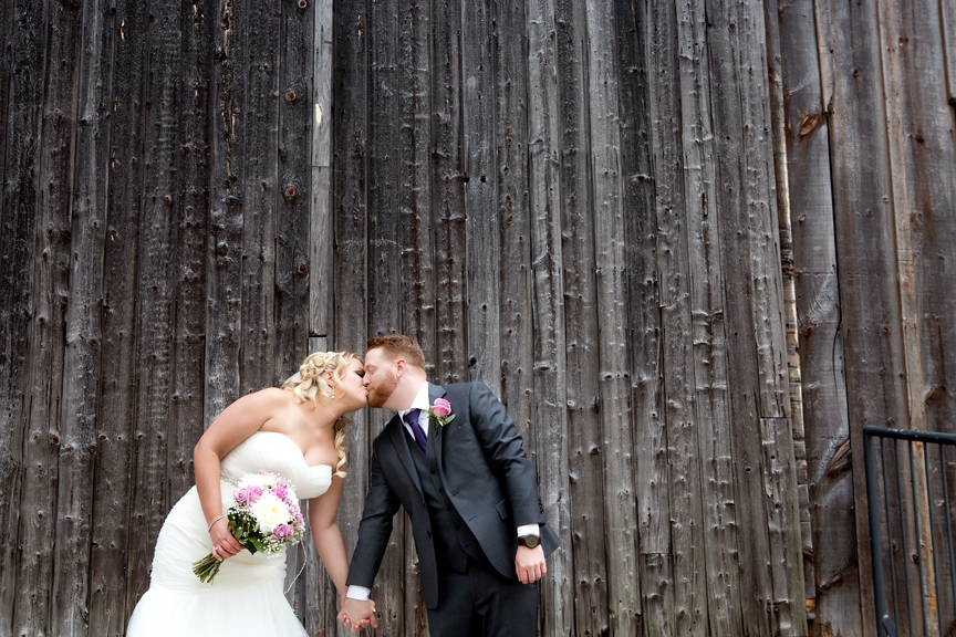 Wedding couple at Adamson Estate
