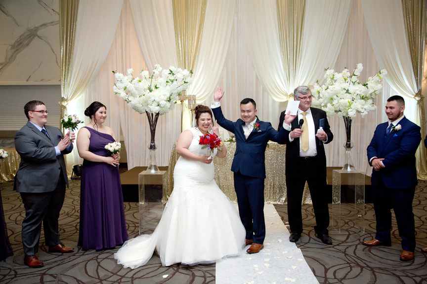 its official wedding ceremony at Mississauga Convention Centre