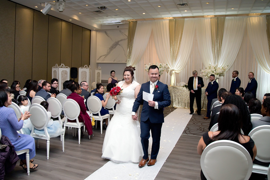 recession wedding ceremony at Mississauga Convention Centre