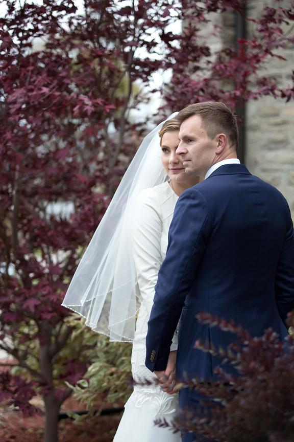 Wedding couple portrait at Islington United Church