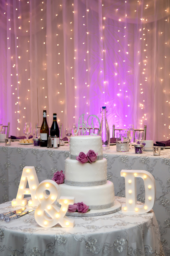 Wedding cake at Le Treport Wedding & Convention Centre