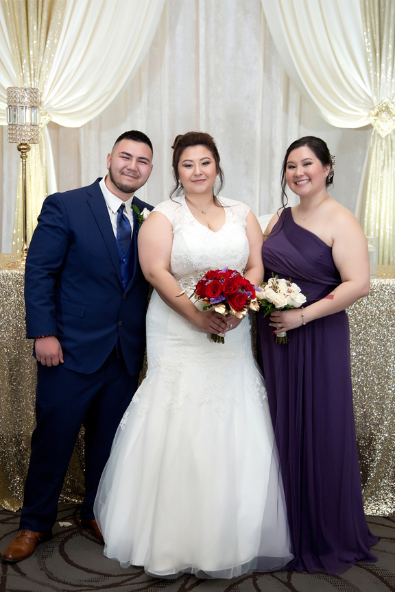 bride's siblings at Mississauga Convention Centre