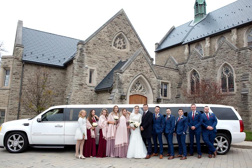 Bridal party at Islington United Church