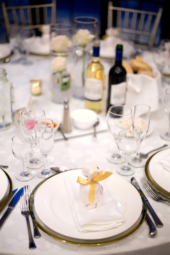 Place setting at Paradise Banquet Hall