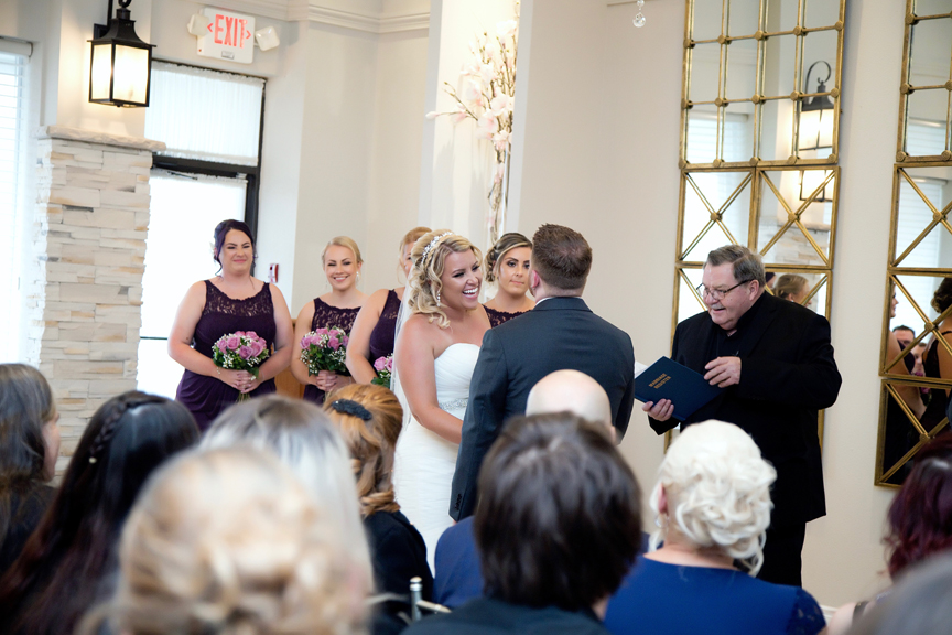 Wedding vows at at Le Treport Wedding & Convention Centre