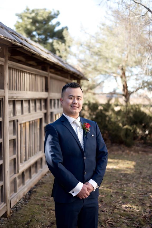 groom portrait at Kariya Park