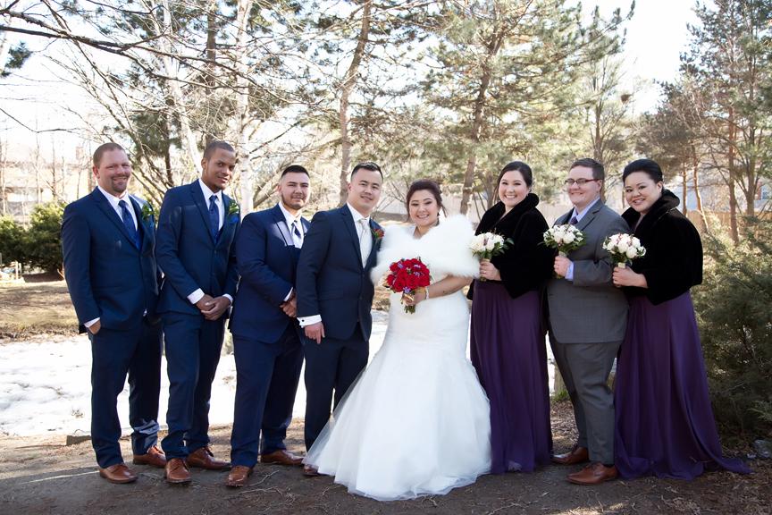 bridal party at Kariya Park