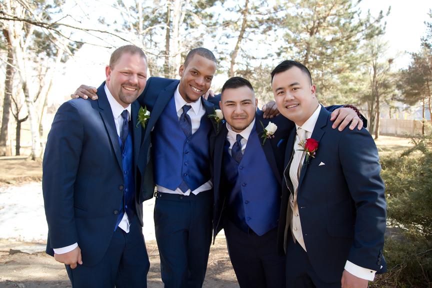 groomsmen at Kariya Park