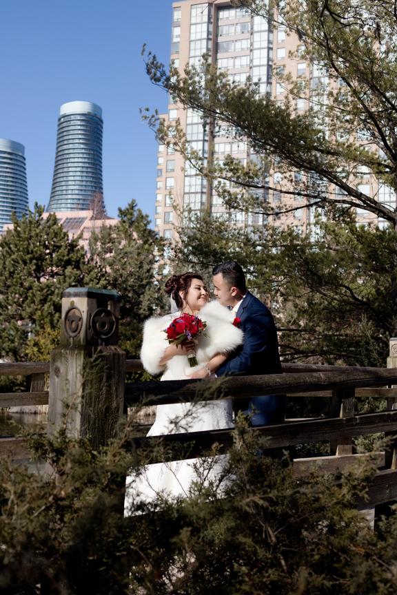 married couple portrait at Kariya Park