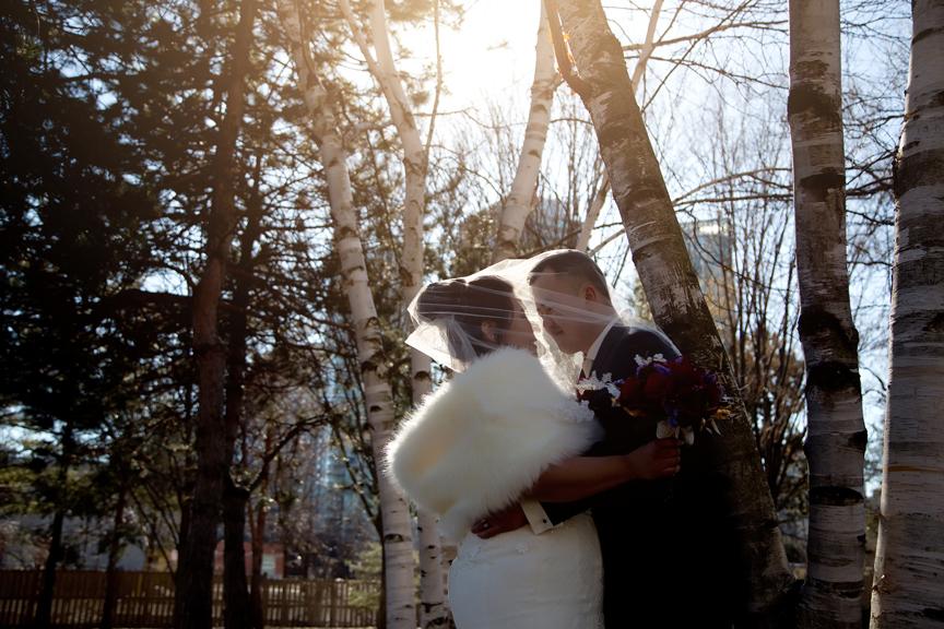wedding couple portrait sunset at Kariya Park