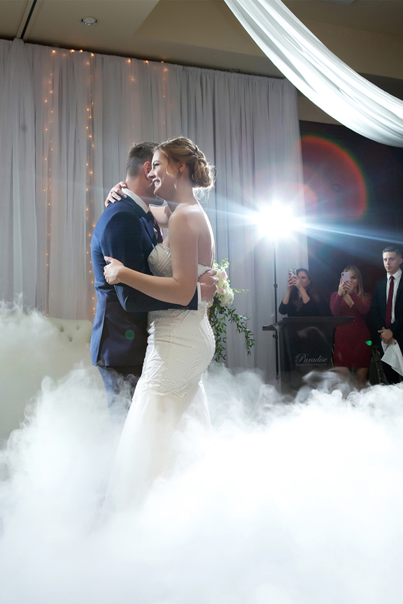 Dry ice first dance at Paradise Banquet Hall