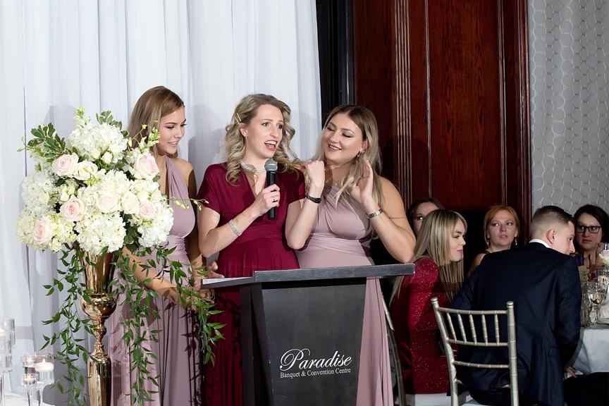 Bridesmaid speech at Paradise Banquet Hall