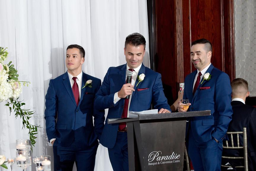 Groomsmen speech at Paradise Banquet Hall