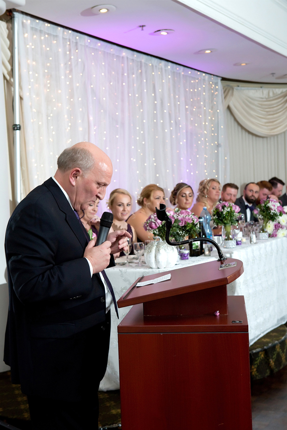 Father of the bride speech at Le Treport Wedding & Convention Centre