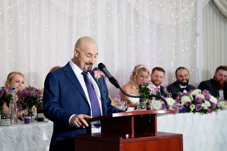 Father of the groom speech at Le Treport Wedding & Convention Centre