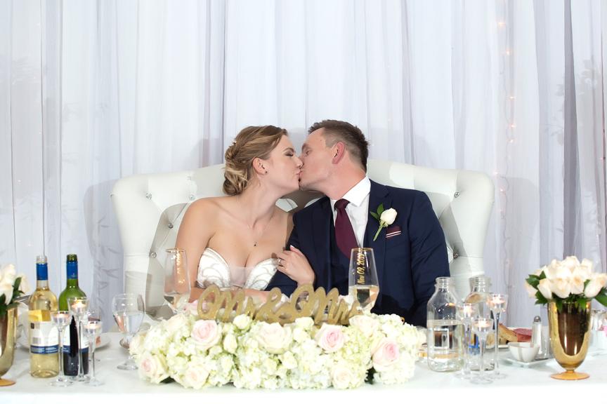 Kissing game at Paradise Banquet Hall