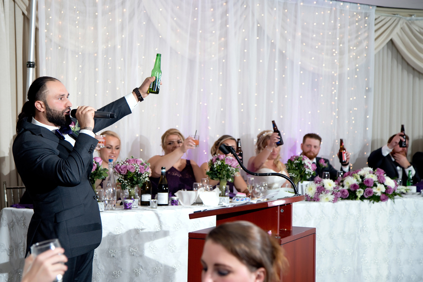 Best man speech at Le Treport Wedding & Convention Centre