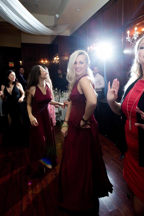 Bridesmaid dancing at Paradise Banquet Hall