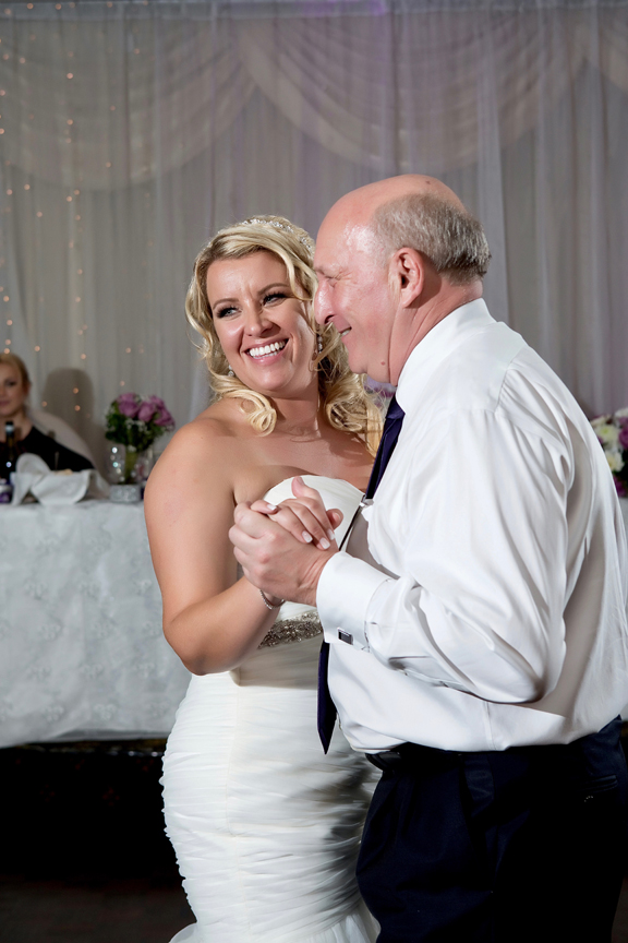 Father daughter dance at Le Treport Wedding & Convention Centre