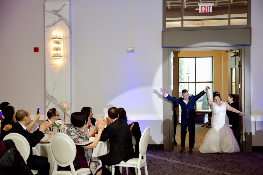grand entrance wedding reception at Mississauga Convention Centre