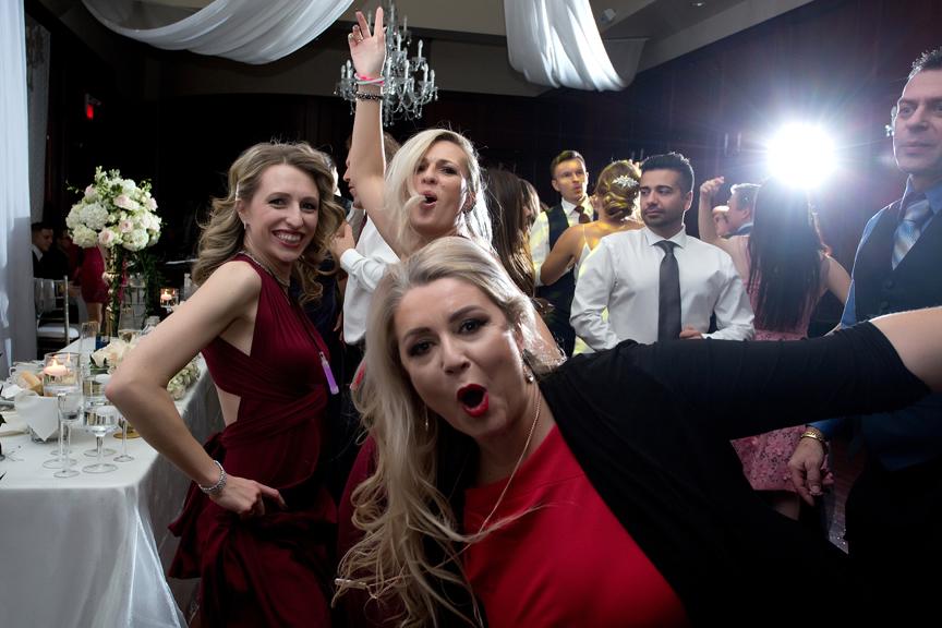 Reception party fun at Paradise Banquet Hall
