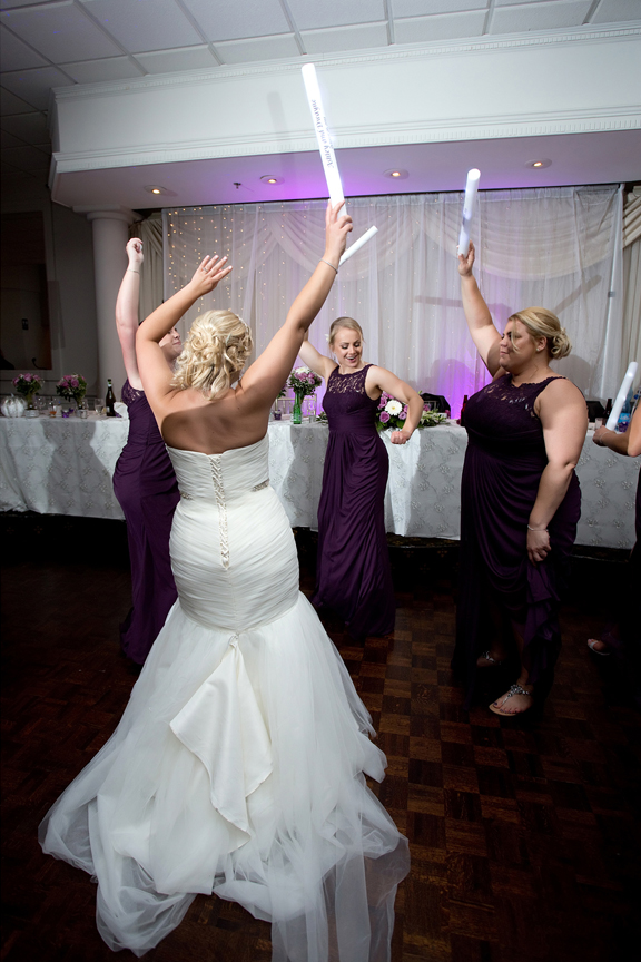 Bridesmaids dancing at Le Treport Wedding & Convention Centre