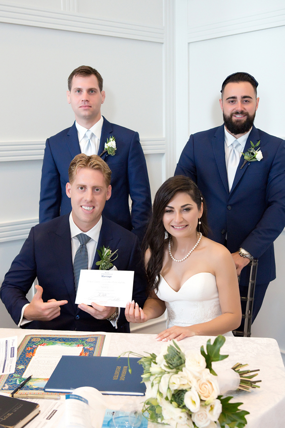 ketubah signing at Terrace Banquet Hall