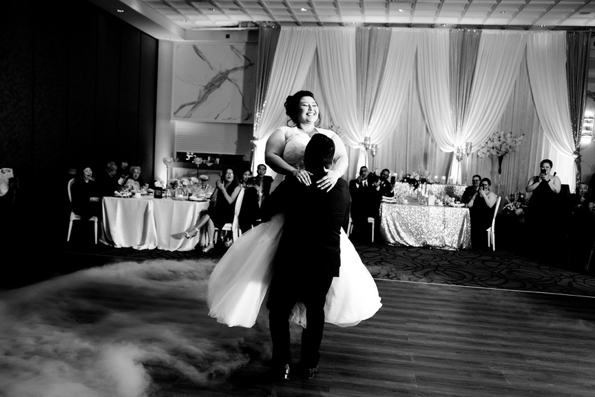 couple's first dance wedding reception at Mississauga Convention Centre
