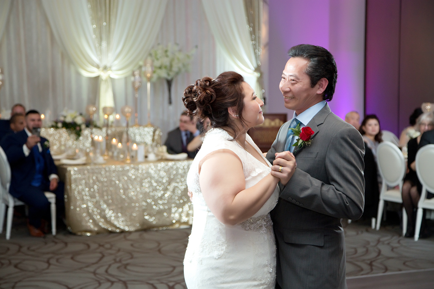 father daughter dance wedding reception at Mississauga Convention Centre