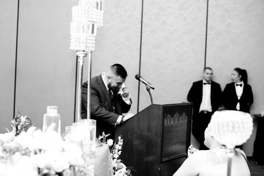 best man speech wedding reception at Mississauga Convention Centre