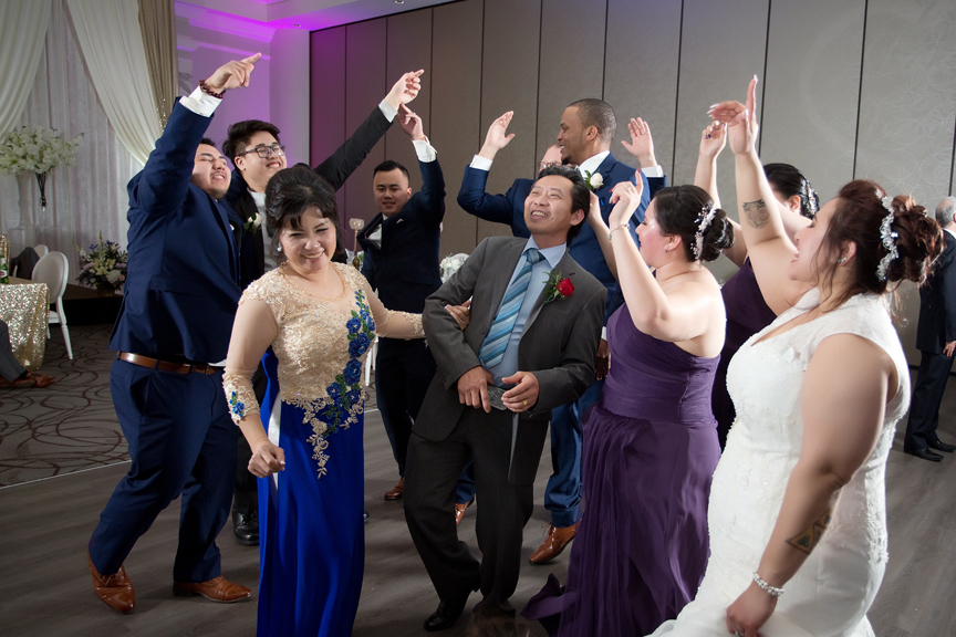 dance party wedding reception at Mississauga Convention Centre