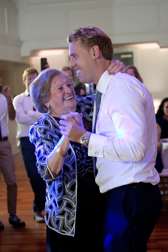 groom and grandma