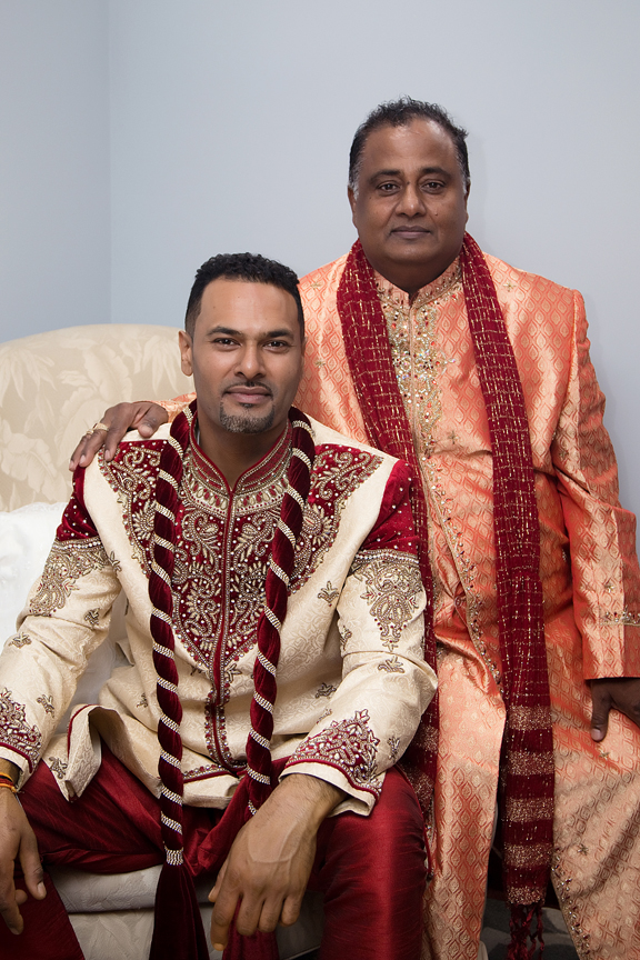 indian groom and dad